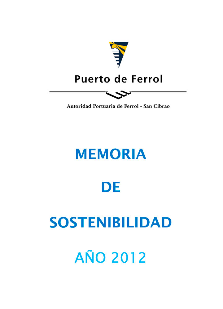 Memoria Sostenibilidad 2012